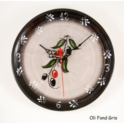 Horloge murale grise olive