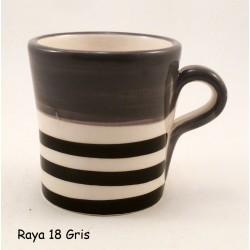 Tasse à café Rayures Noires