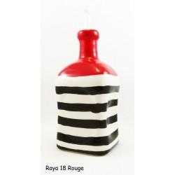 Huilier carré original rouge et noir