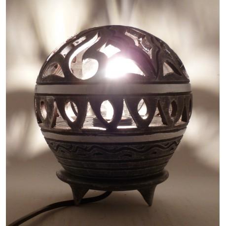 Lampe boule Argent