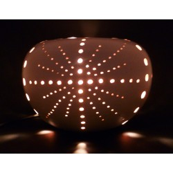 Lampe Boule 20 cm Blanc Or