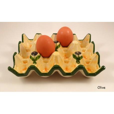 Carton à œufs par 12 Olive
