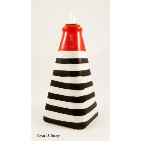 Huilier pyramide rayure rouge
