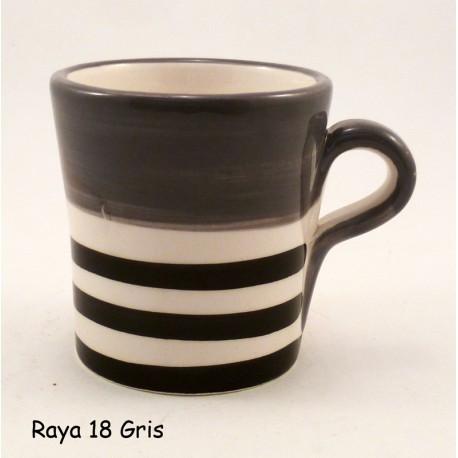 Tasse à café Rayures Gris