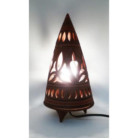 Lampe Pyramide PT Marron