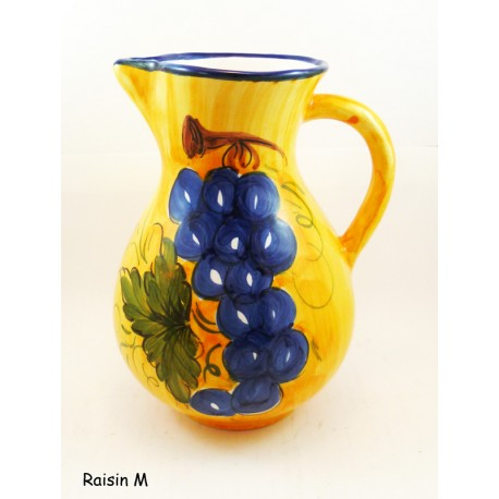 Pichet en céramique 21 cm Raisin