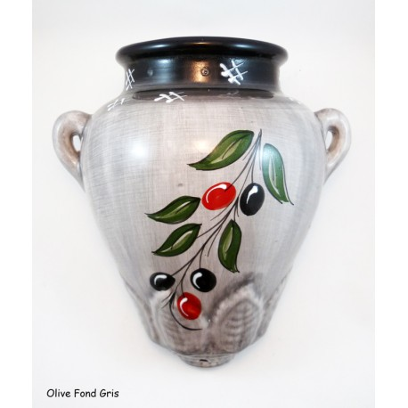Pot mural maxi Olive Fond Gris