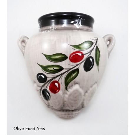 Pot mural M Olive Fond Gris