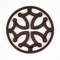 Dessous de plat Croix Occitane cercle