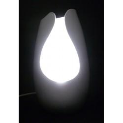 Lampe design 30cm argent