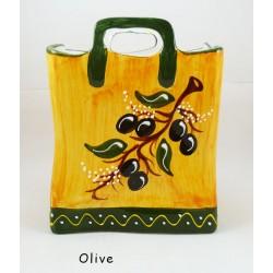 Panier grand modèle Olive Fond Gris