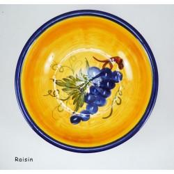 Saladier plat 29X10 Olive Fond Gris