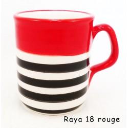 Mug rayé noir
