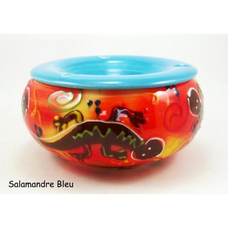 Cendrier Maxi anti-odeur Salamandre Bleu