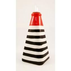 Huilier pyramide rouge et noir