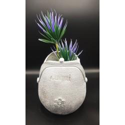 Pot de fleur en forme de porte - monnaie
