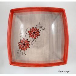 Saladier plat carré rayure design