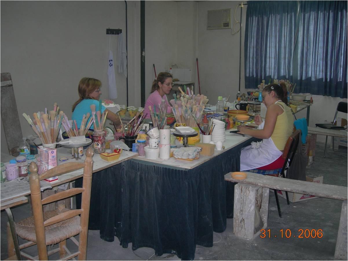 La peinture poterie