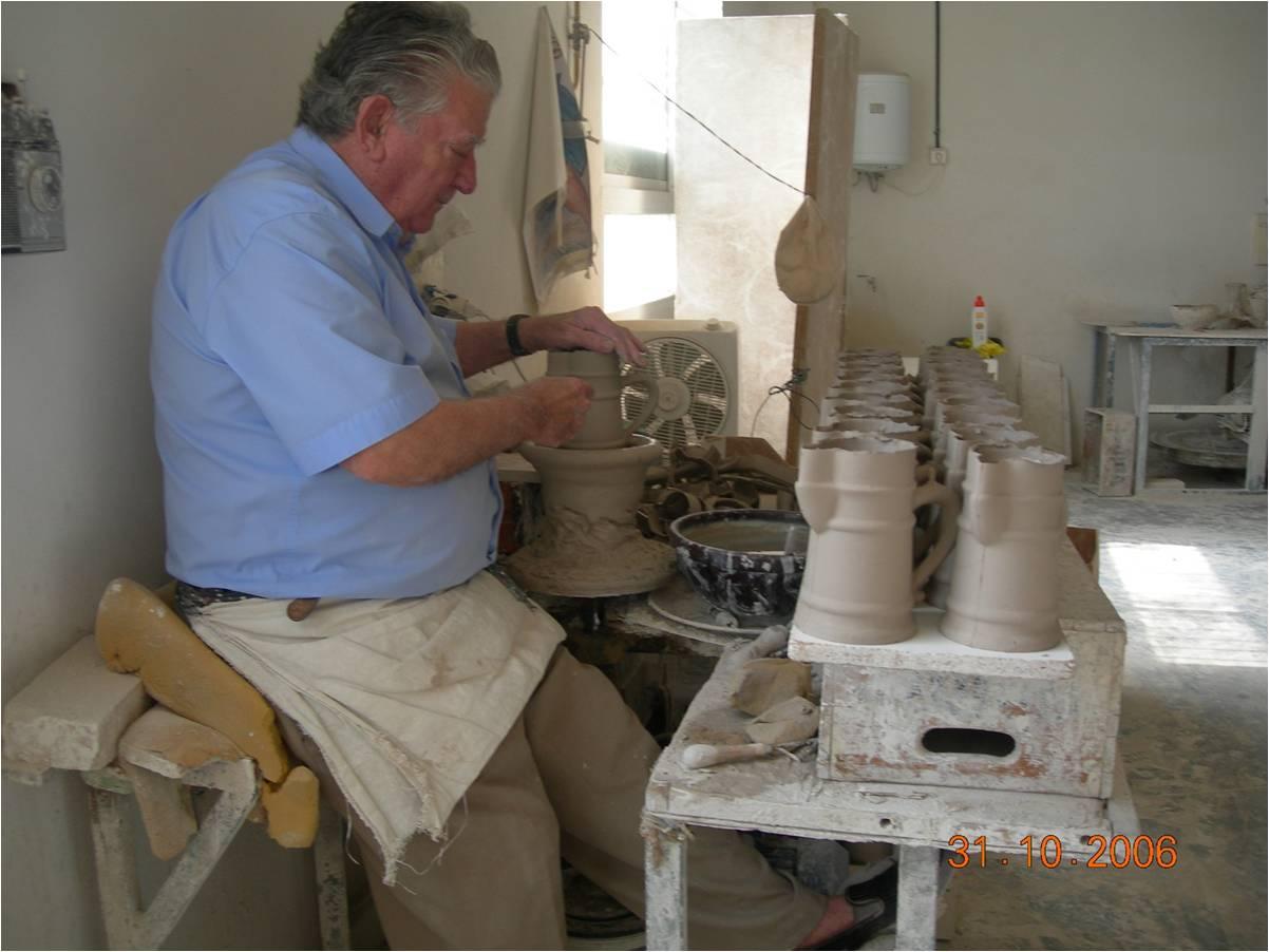 Le tournage décoration poterie